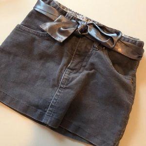 Gray sparkly Corduroy Skirt 3T